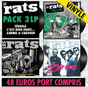 Image of LES RATS Pack 3 LP