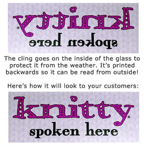Image of Knitty Window Cling
