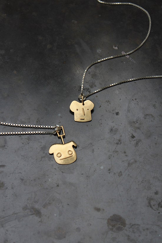 Image of TOASTER GUY + BIG EYED GUY NECKLACES