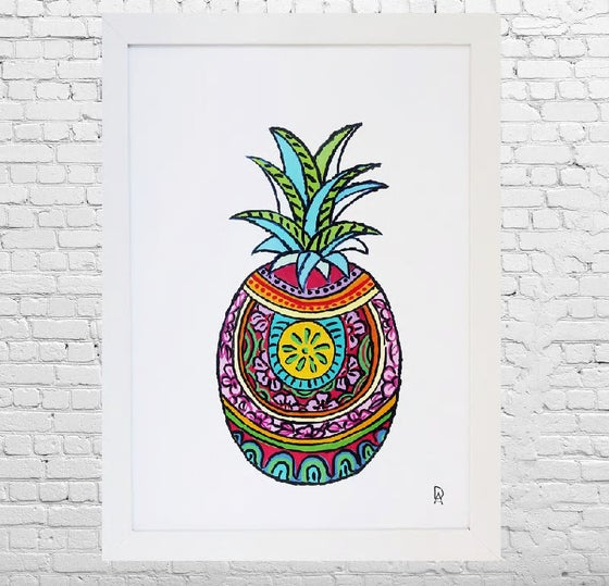Image of Mexican Pineapple Art Print
