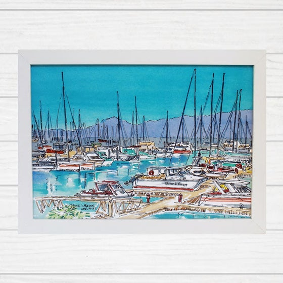 Image of Able Point Marina Airlie Beach Art Print