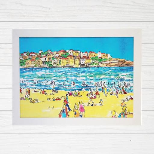 Image of Bondi Beach and Ben Buckler Art Print