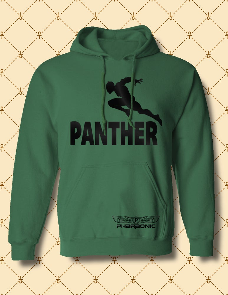Image of MEN'S/WOMEN'S BLACK PANTHER PULLOVER HOODIE