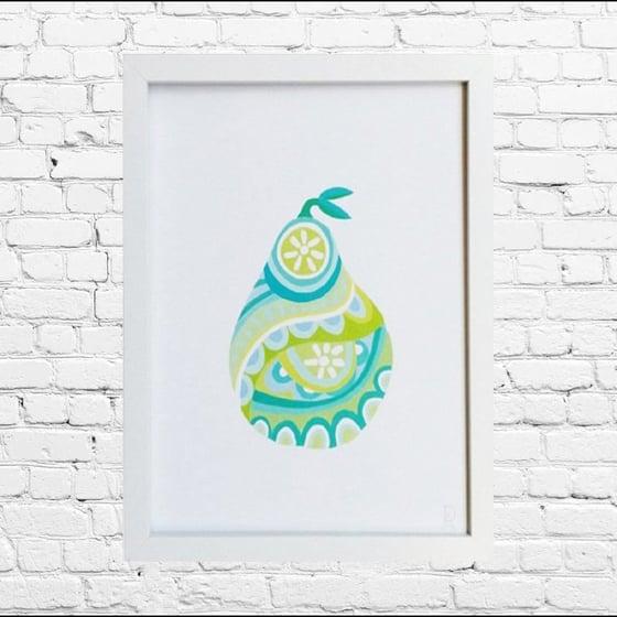 Image of Green Pear Art Print