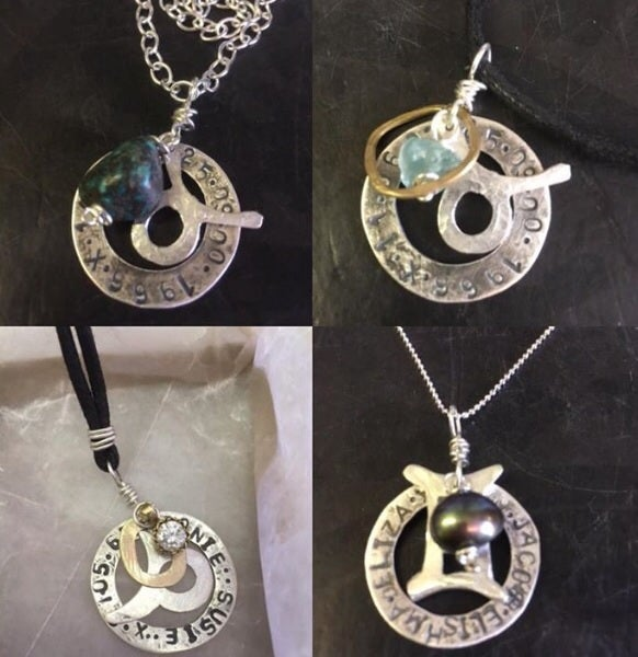 Image of Personalised silver pendant