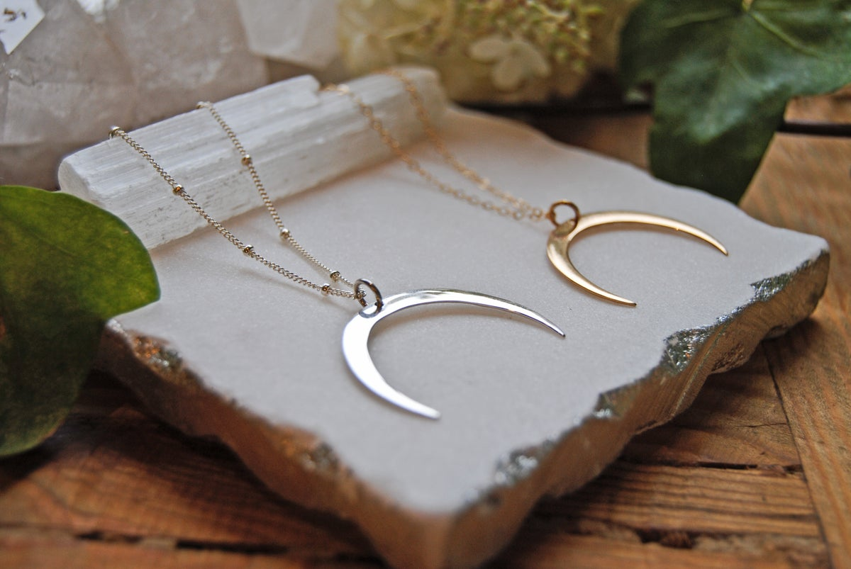 Image of Hammered moon crescents