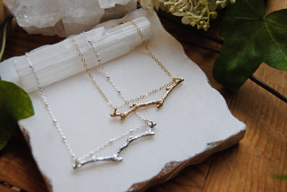 Image of Textured branch necklace