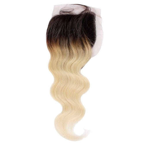 Image of blonde & blonde with dark roots closure/frontal