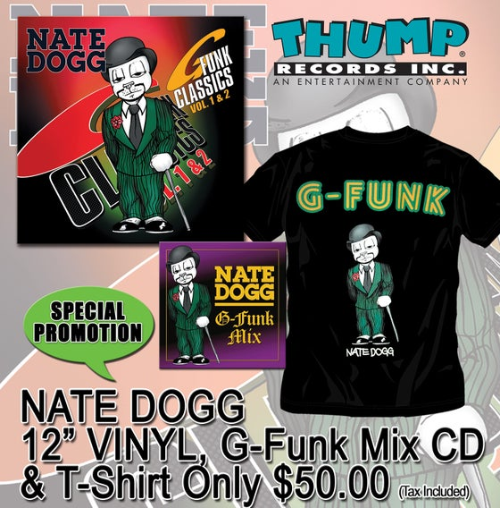 Image of NATE DOGG 2 VINYL PACKAGE/T-SHIRT & G-FUNK CD