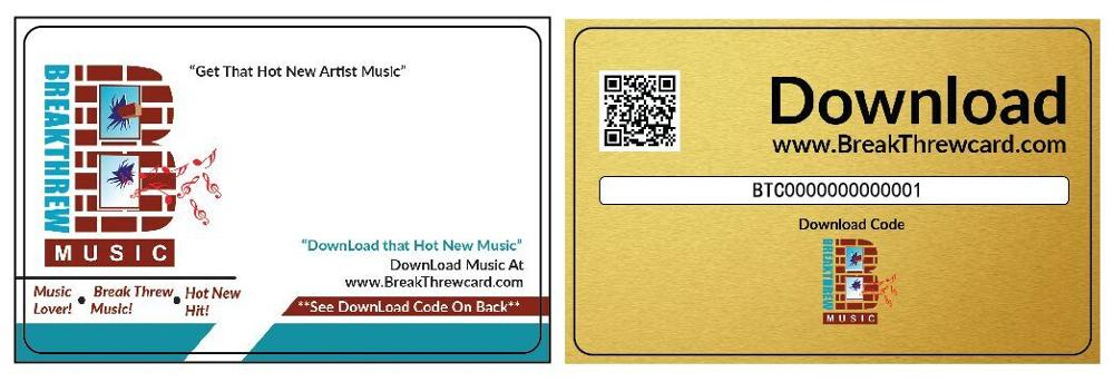 Music Download Cards