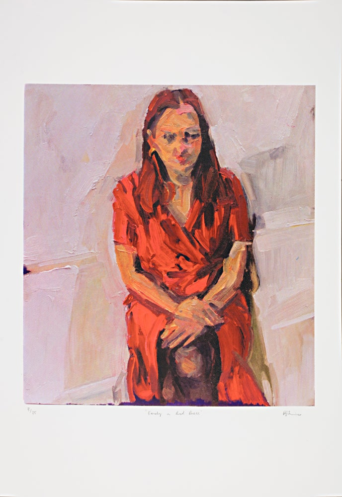 Image of 'Emily in Red Dress' 4 colour screen-print