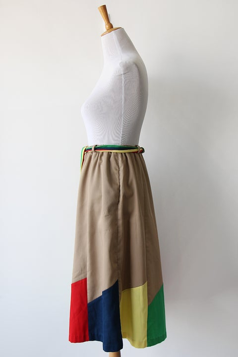 Image of SOLD Rainbow Pinwheel Skirt