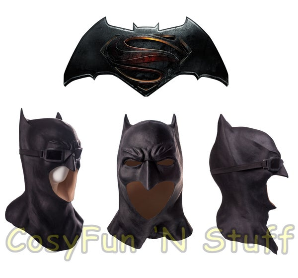Image of Cosplay Deluxe Justice League Batman Mask Adult Superhero Costume Mask New