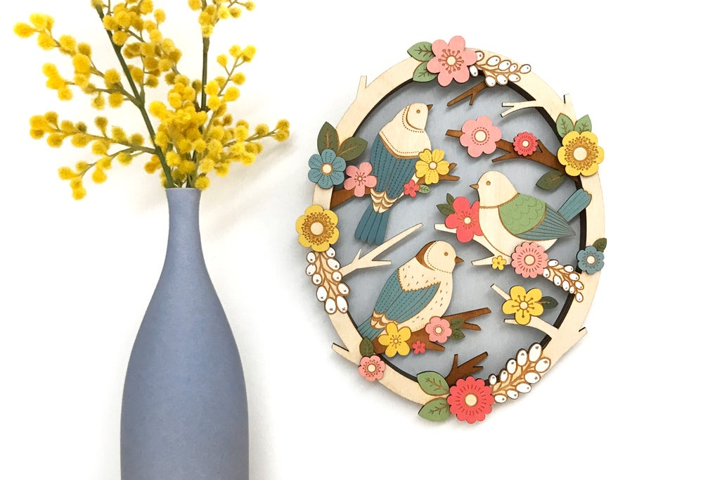 Birds in Springtime - Wall Design