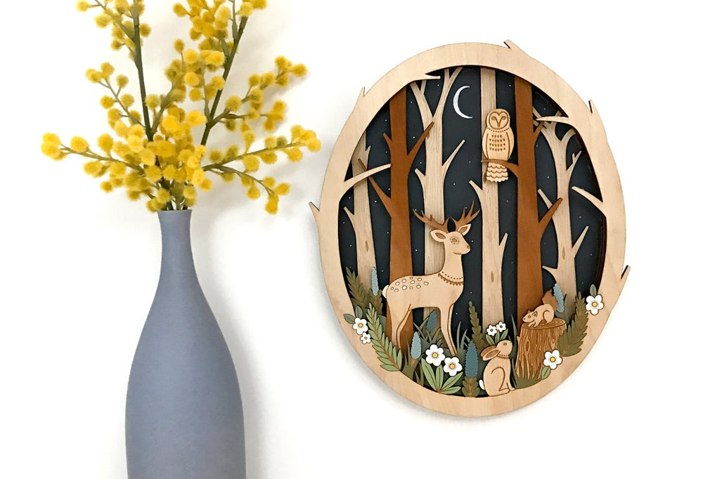 Image of Moonlit Forest - Wall Design