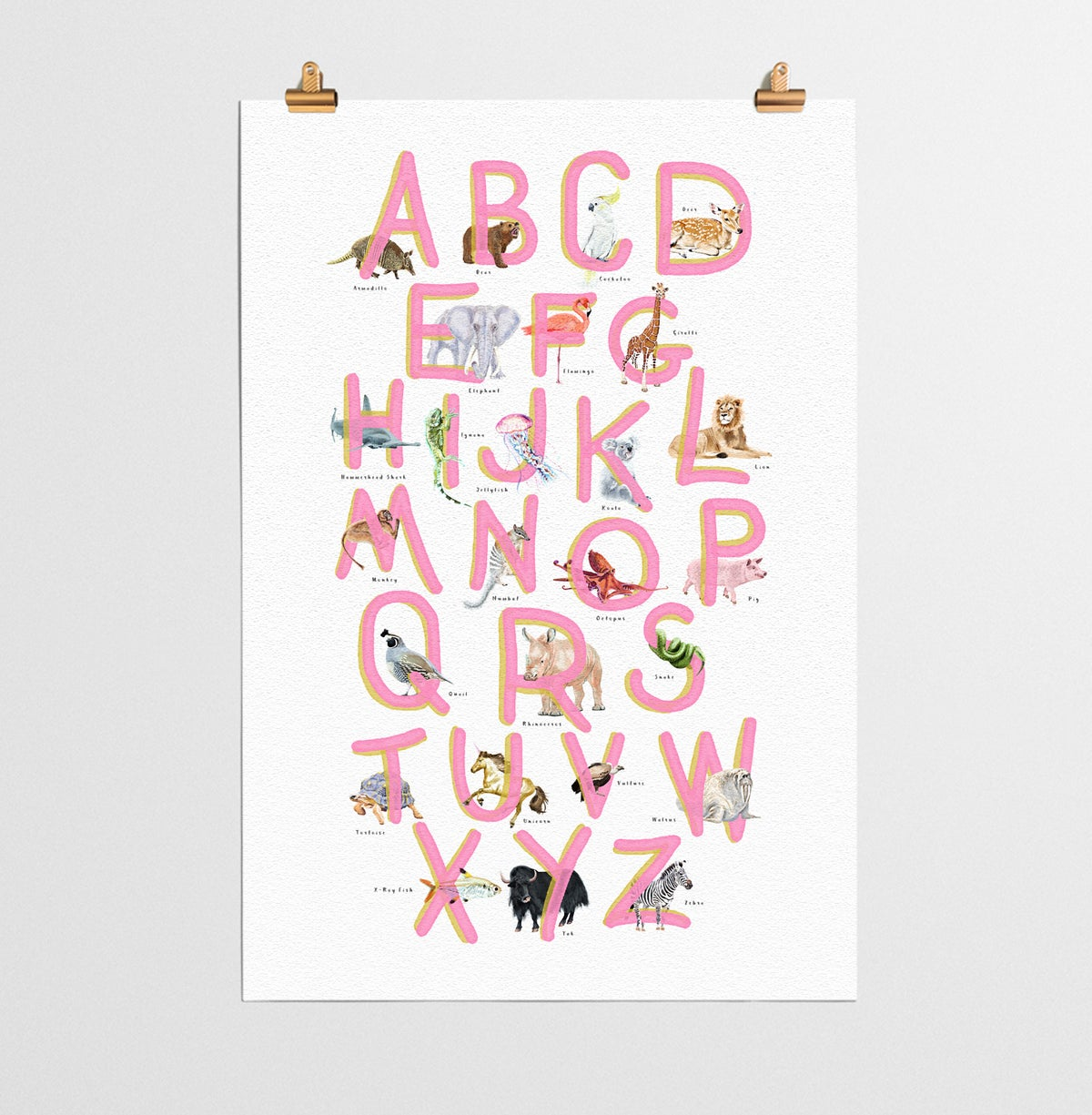 Image of ABC Poster Pink