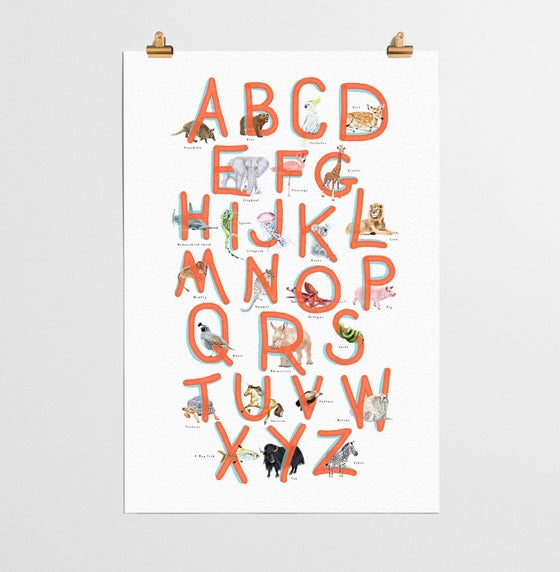 Image of ABC Poster Red