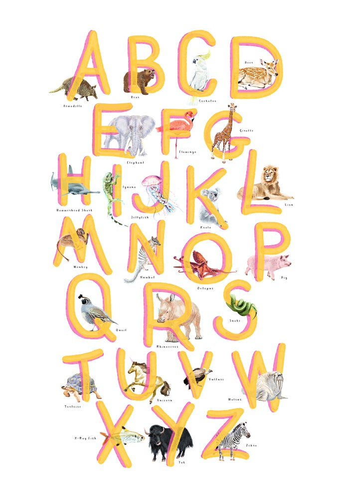 Image of ABC Poster Yellow