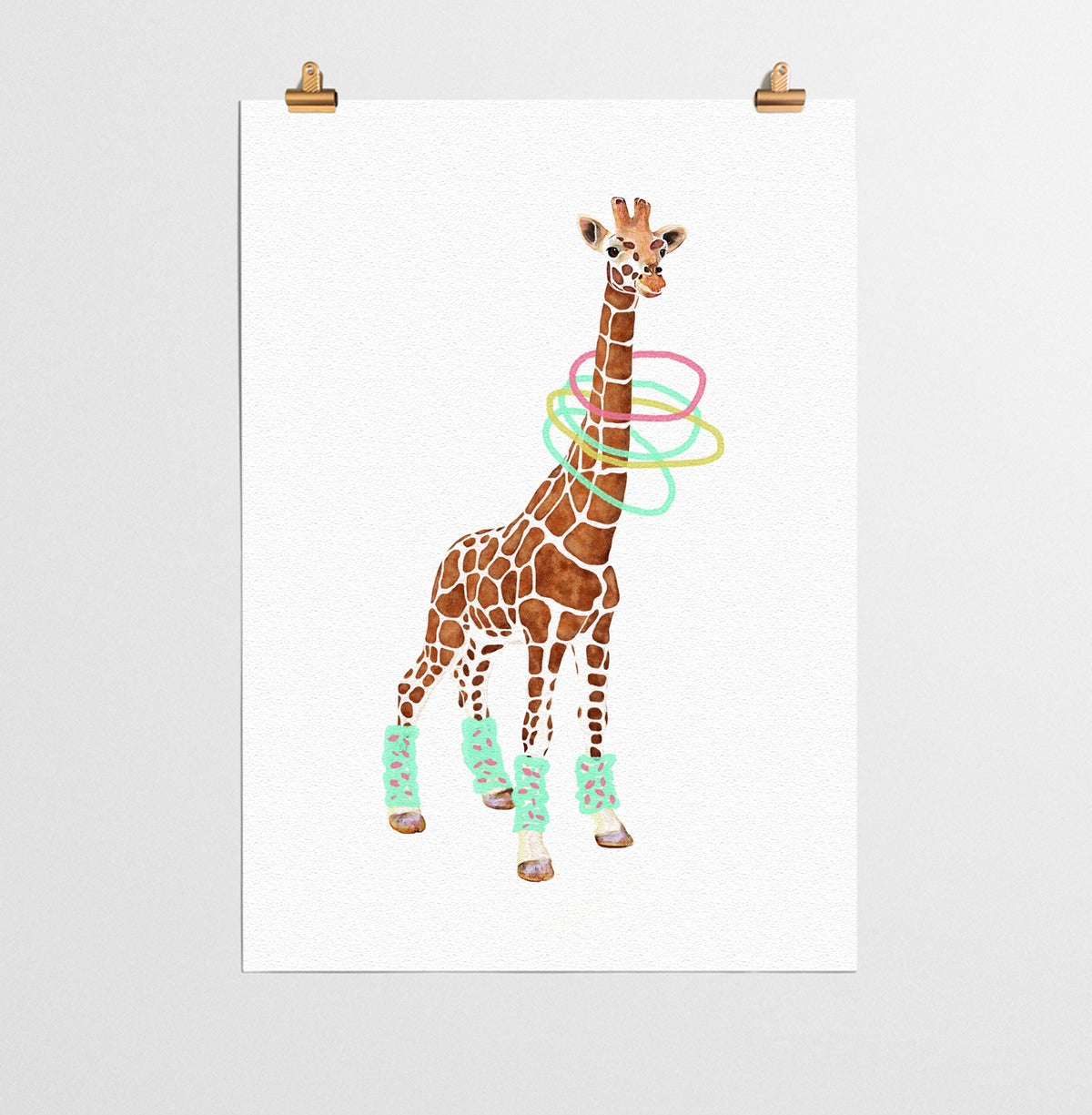 Image of Giraffe Animal Nursery Print