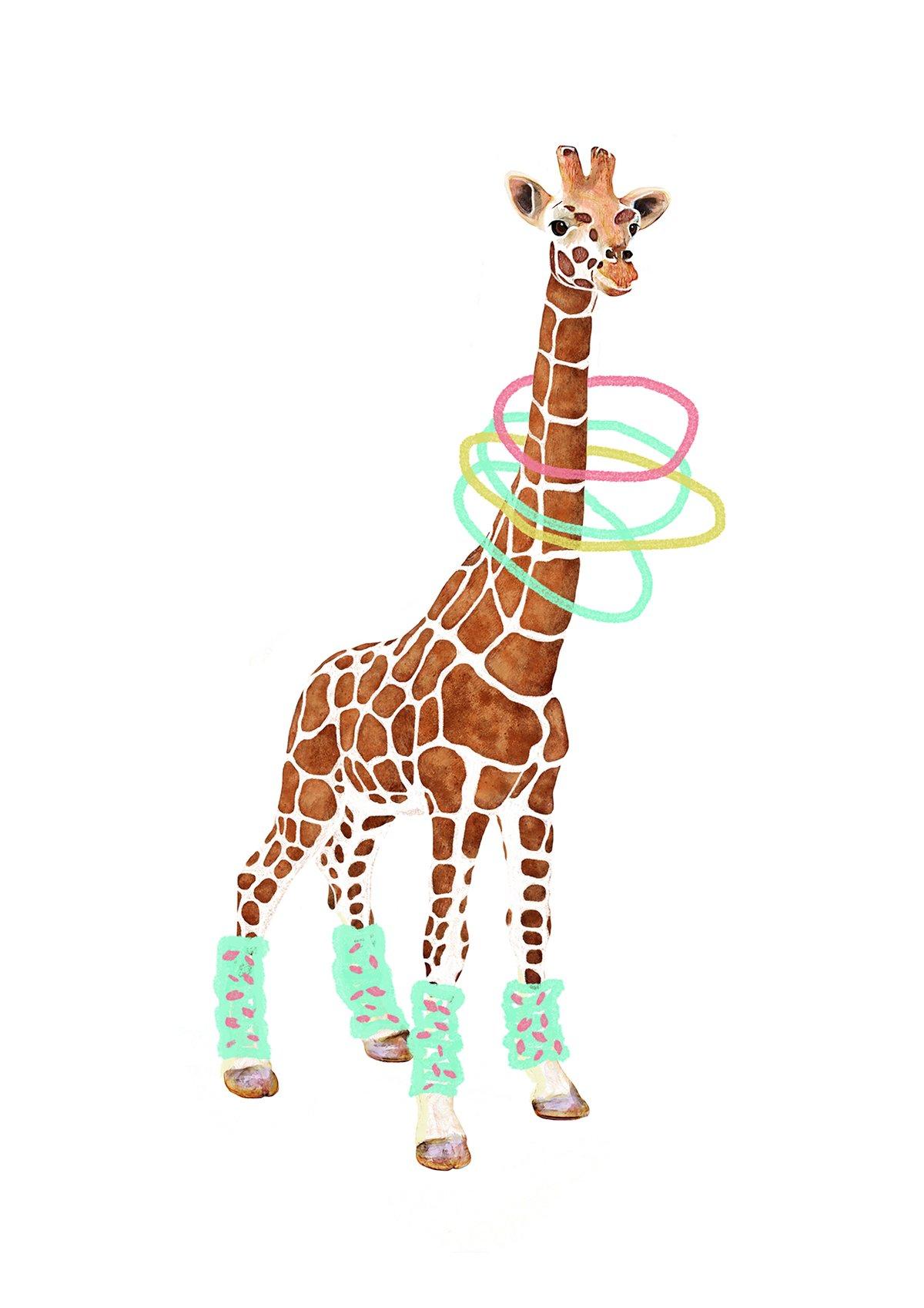 Image of Giraffe Animal Nursery Print