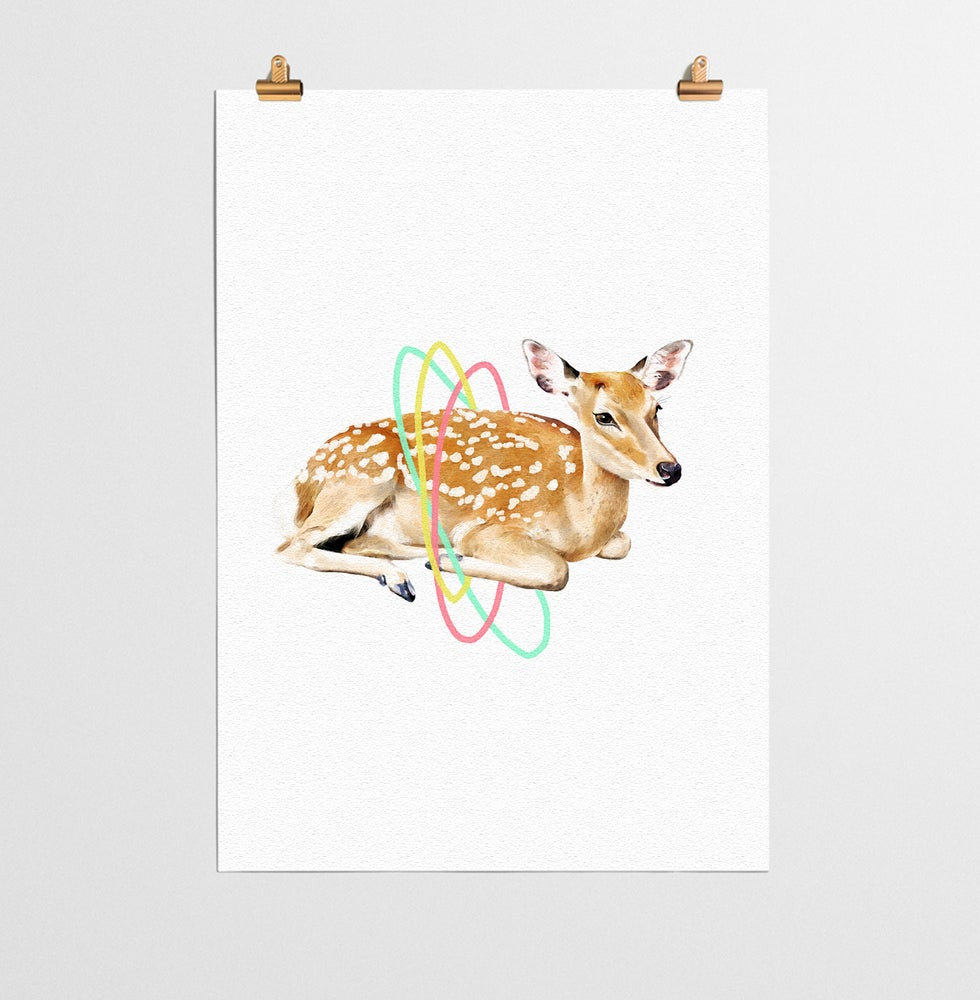 Image of Deer Animal Nursery Print