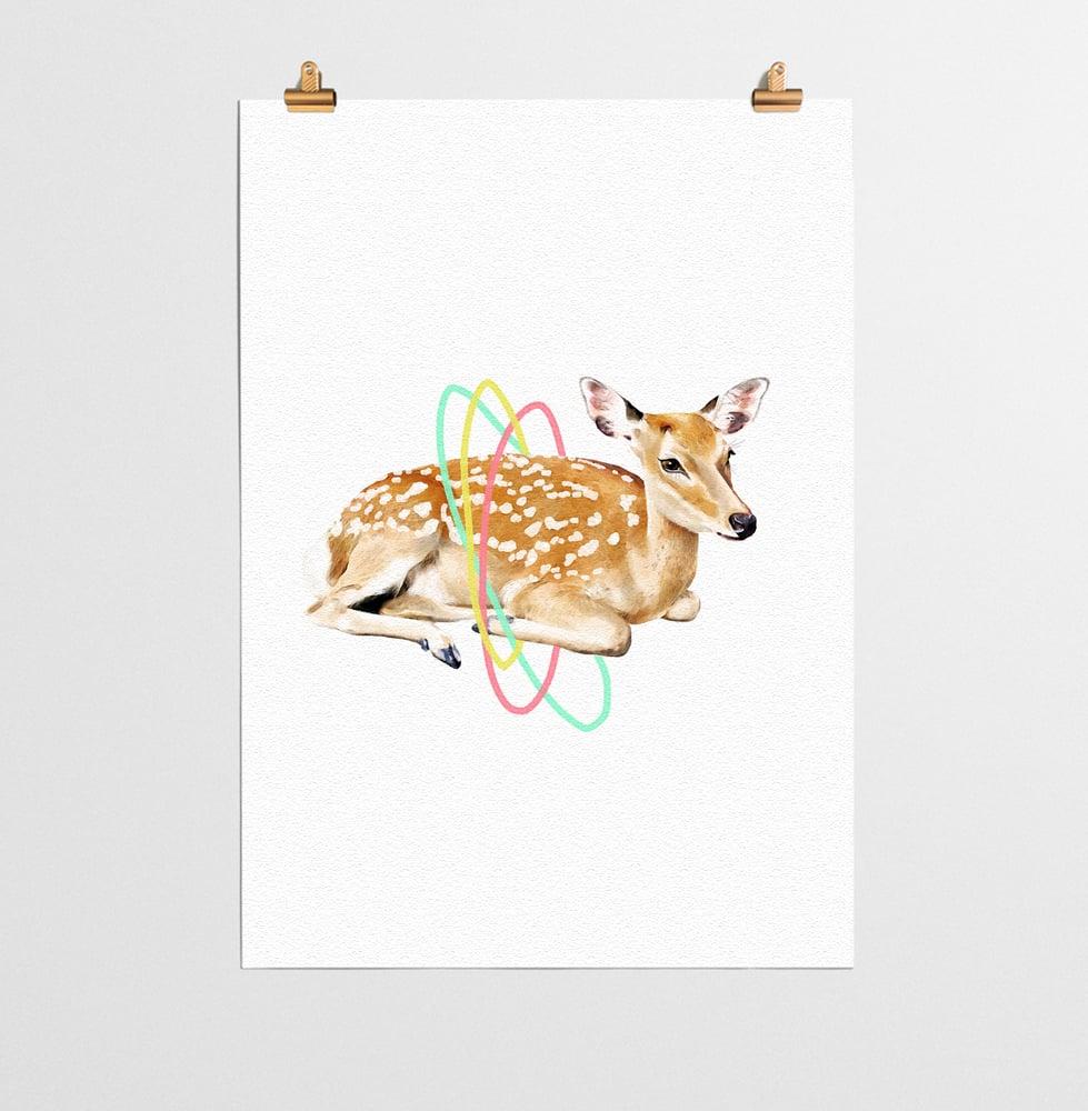 Image of Deer Animal Nursery Print