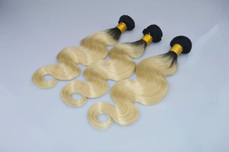 Image of blonde with dark roots bundles