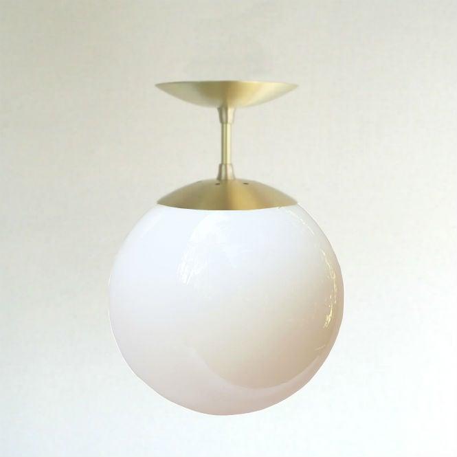 Excellent Mid Century Modern Semi Flush White 8