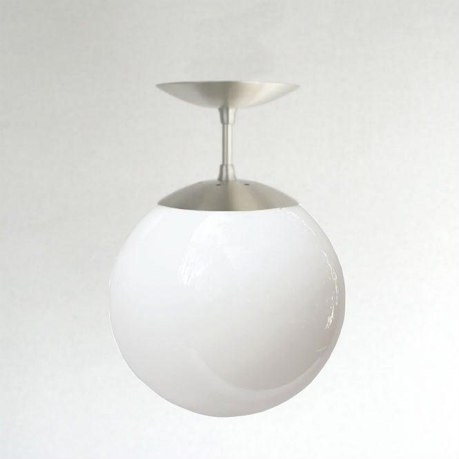 Image Of Mid Century Modern Semi Flush White 8 Globe Pendant Light Orbiter