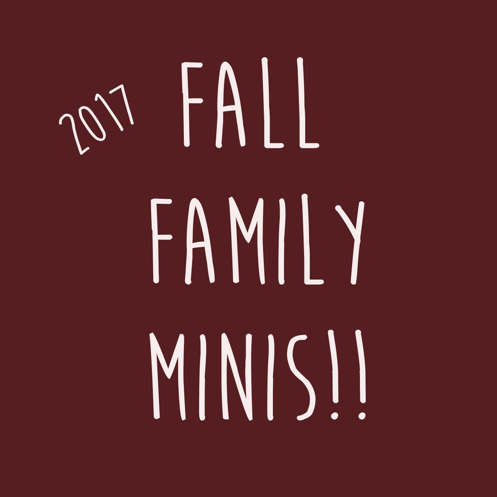 Image of Fall family mini sessions