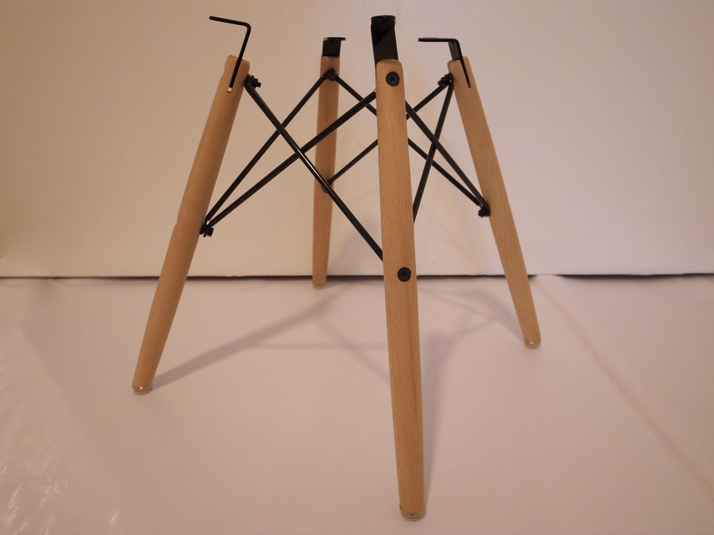 Image of Dowel bases for Herman Miller Charles Eames Shell Chairs - set of 6