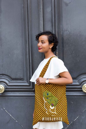 Image of Tote Bag Ecaille Turbanista 20% OFF