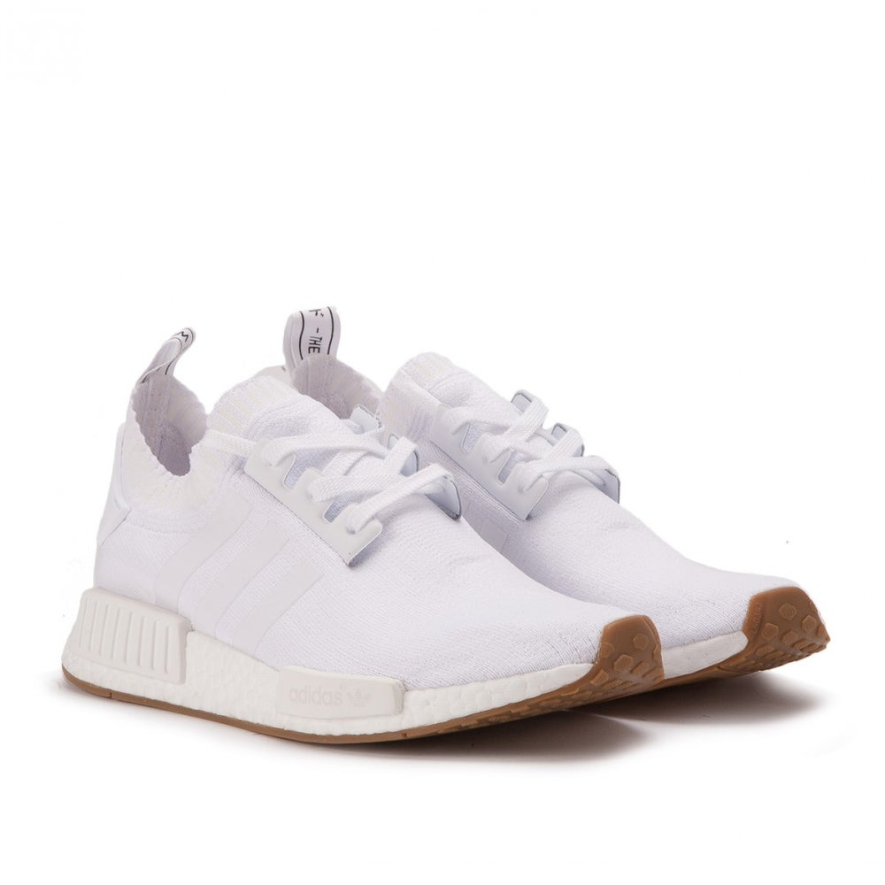 "Image of adidas NMD R1 Primeknit ""Gum Pack"" White"