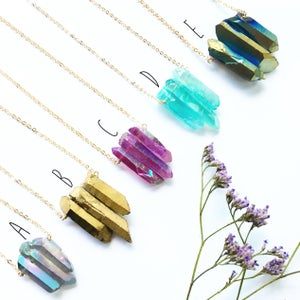 Image of Trio Necklaces - Aura Quartz Crystal
