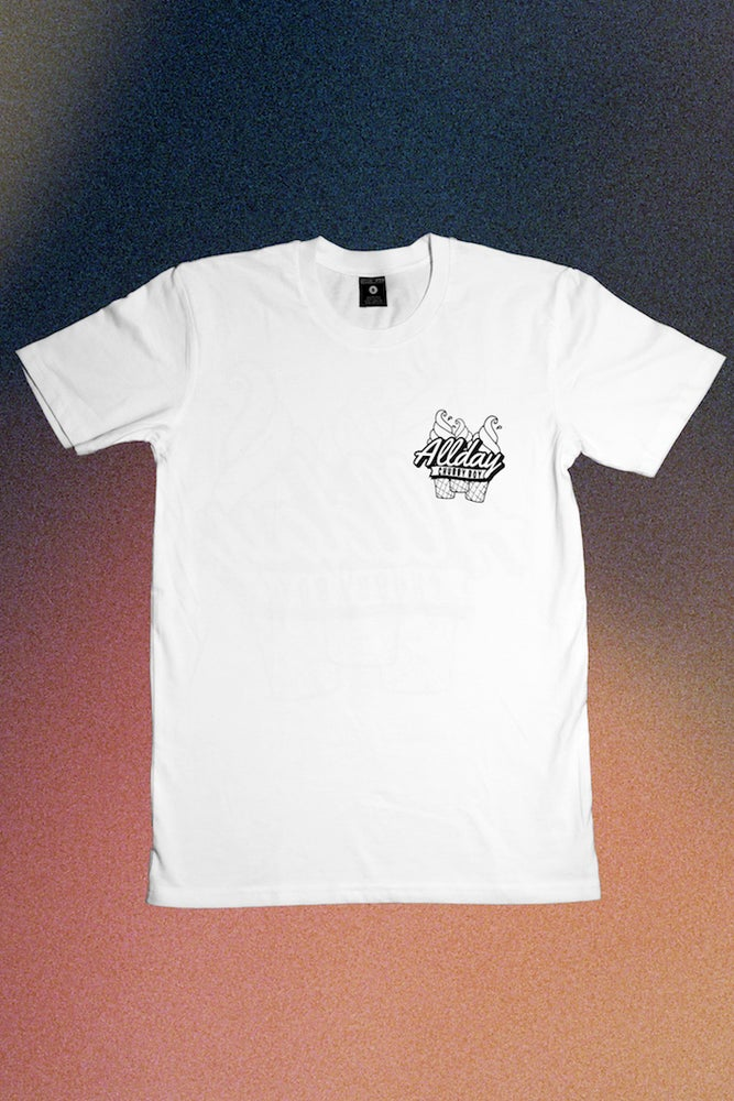 Image of Allday Icecream White Tee