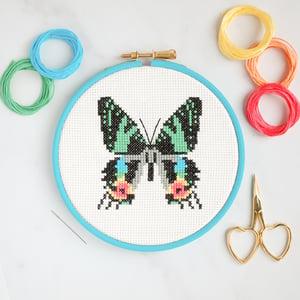 Image of Sunset Moth cross-stitch kit