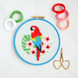 Image of Macaw cross-stitch kit