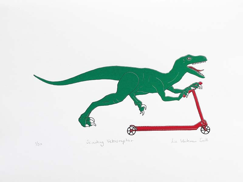 Image of Scooting Velociraptor