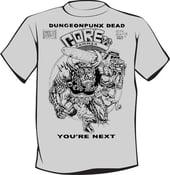 Image of Corehammer X Dungeonpunx Grey Shirt