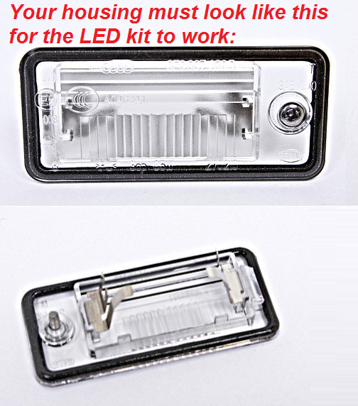 Image of LED License Plate Housings Crisp White-Error Free-Plug and play Fits: Many Audi Models