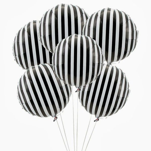"Image of Black Stripe 18"" balloon"