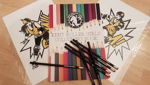 Image of Kent Roller Girls Colouring Book