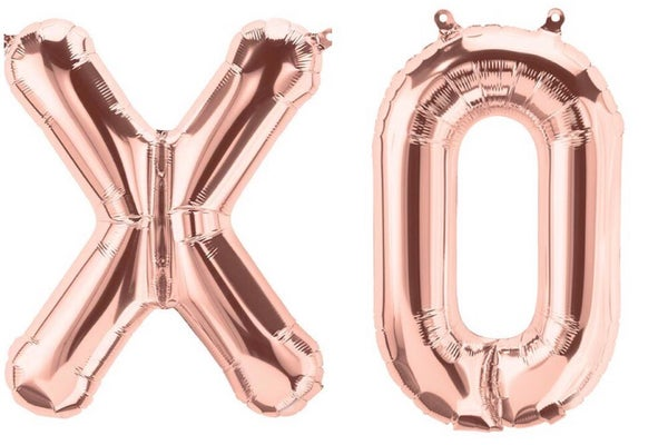 Image of Rose Gold XO Balloons - 16""