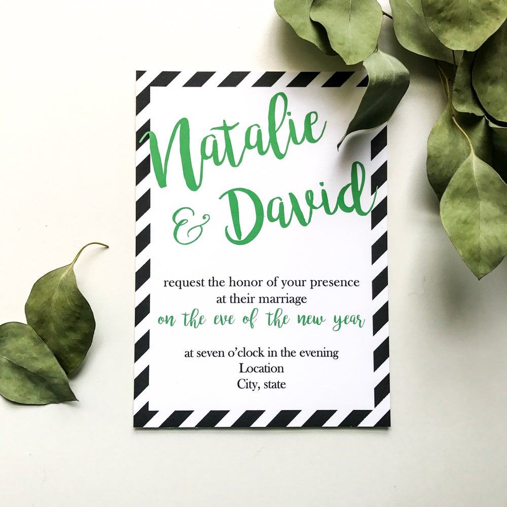Image of Natalie - Stripe Invitation Suite