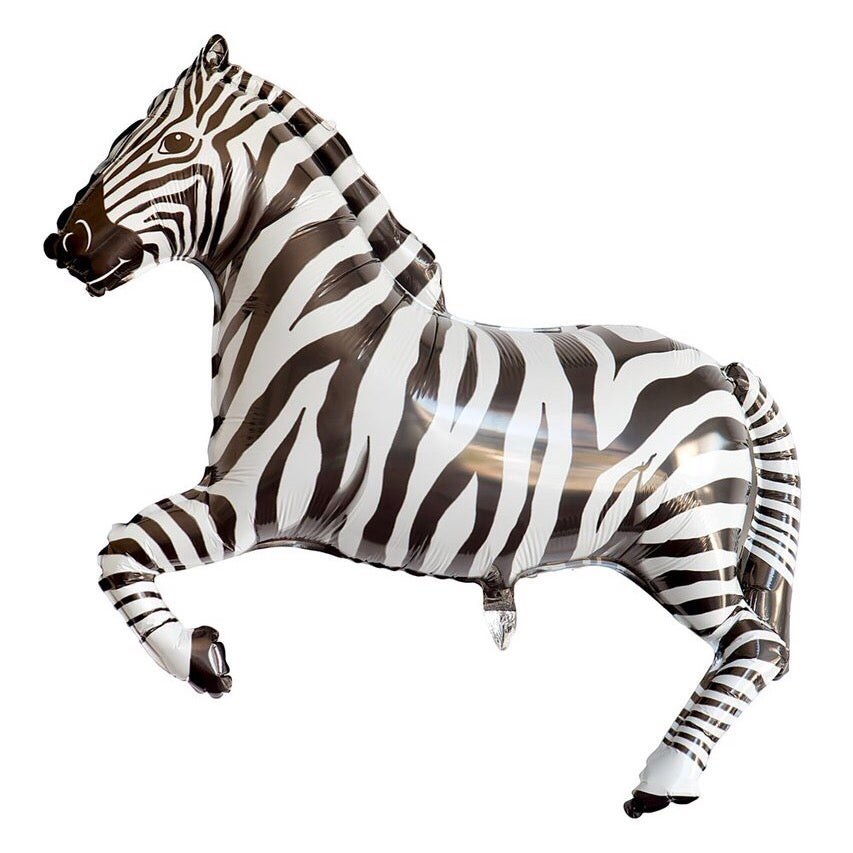 Image of {Zebra} Mylar Balloon