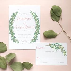 Image of Erin - Eucalyptus Invitation Suite
