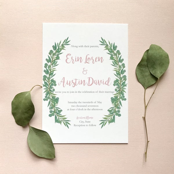 Image of Erin - Eucalyptus Invitation Suite