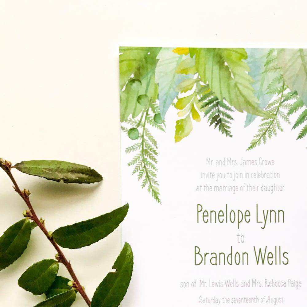 Image of Penelope - Ferns Wedding Invitation Suite