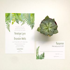 Image of Penelope - Ferns Wedding Invitation Suite