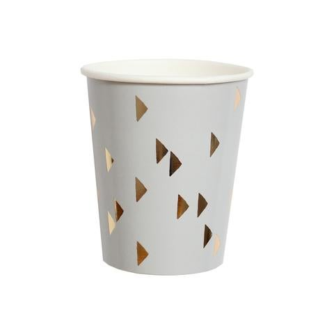 Image of Wander - Gold Triangles Party Cups